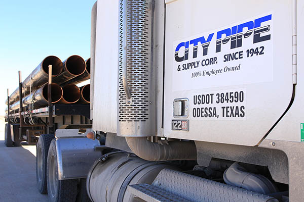 City Pipe Semi-Truck with Logo